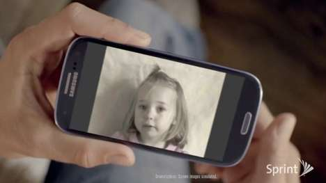 Time-Lapsed Phone Campaigns - The Sprint 'Girl' Video is a Technological Trip Through Time
