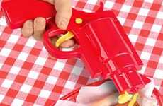 Ammo-Filled Ketchup Shooters - The Condiment Dispenser Gun is Fun for Any BBQ