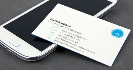 Self-Updating Business Cards - The NFC Business Cards Keep Your Contacts Connected