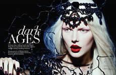 Gothic Sorceress Photoshoots - The Fashion Canada 'Dark Ages' Editorial Stars Model Bekah Jenkins