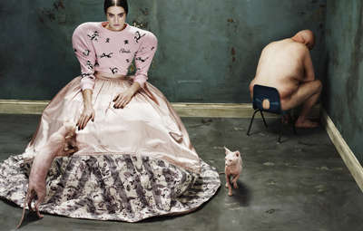 Disturbing Couture Editorials - The Dansk 'Circus Humanus' Photoshoot Stars an Eerie Maria Bradley