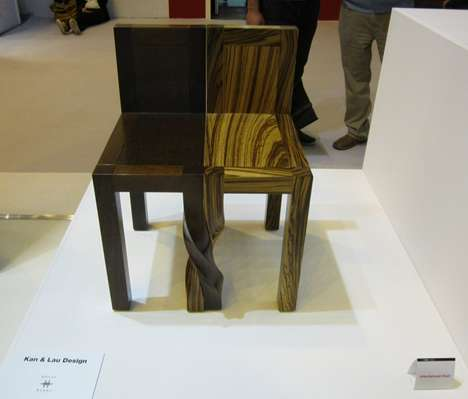 Twisted Leg Furniture - The Intertwined Chairs by Kan & Lau is Strangely Romantic