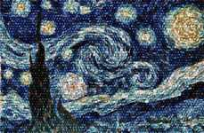 Cosmic Cluster Mosaics - An Astronomer Recreates Van Gogh's Starry Night Using Pictures of Galaxies