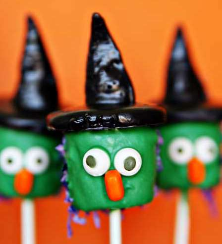 Try Out a Fun Halloween Treat with the Marshmallow Witch Pops Recipe