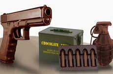 Edible Cocoa Weapons - These Chocolate Guns Can Help You Melt Away Your Sorrows