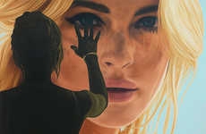 Lifesize Starlet Portraits - Get Up Close & Personal with the Richard Phillips Celebrity Paintings