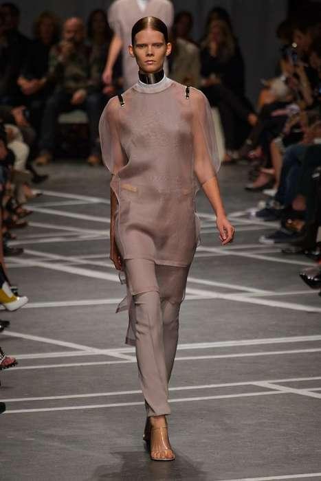 Minimalistic Ruffled Couture