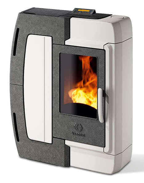The Ambra Pellet Stove Has a Compact and Modern Design