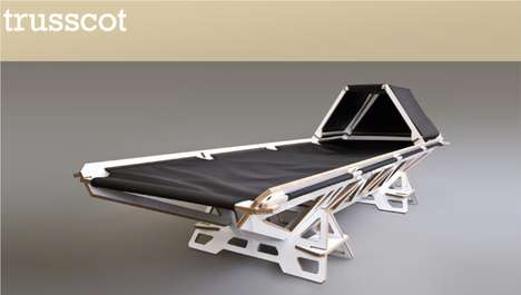 Beautiful Braced Beds - Trusscot by U-Type Incorporates Thoughtfulness into Auxiliary Furniture