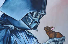 Playful Sci-Fi Portraits - Feel the Warm and Fuzzy Power of the Force with Star Wars Bunny Art