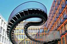 Continually Spiraling Staircases