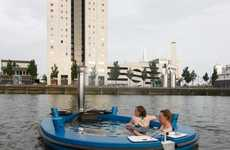 Mulitfunctional Sea Vessels - The Hot Tug Tub Boat is a Romantic and Relaxing Mode of Transportation
