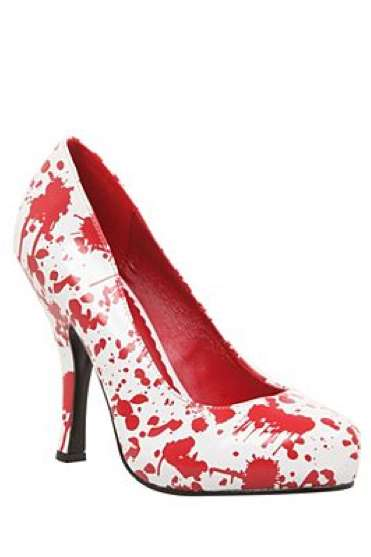 Blood-Splattered High Heels