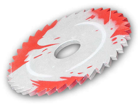Scare the Dickens Out of Friends and Family with the Sawblade Throwing Disc