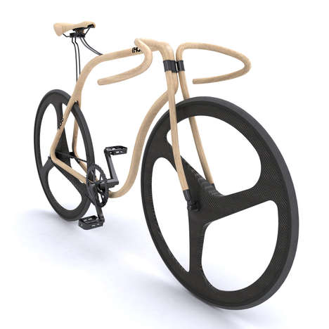 Slender Sinuous Cycles - The Andy Martin Thonet Bike is Bent on Being Eco-Friendly