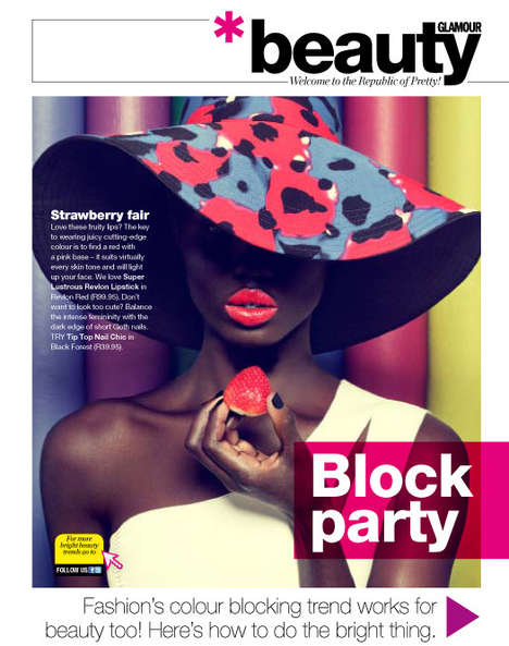 Colorblocked Beauty Editorials
