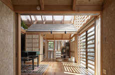 Fragmented Timber Abodes - The Outside (Outside) ((Outside)) by a.a.+H Boasts an Intricate Design