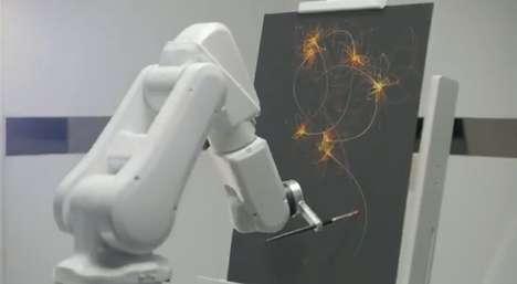 Slumber-Painting Robots
