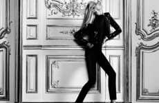 Dramatic French Salon Photography - The Anja Rubik for YSL Website Images are Sensually Stunning