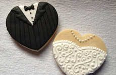 Cute Bridal Confections - Impress Your Nuptial Guests with These Bride and Groom Cookies