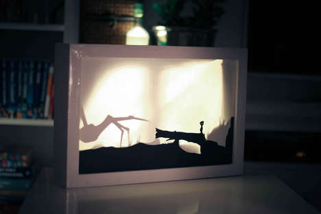 Storyline Shadow Canvases - Daniel Zeller Creates Beautiful Limbo-Inspired Art with LED Lights