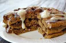 Pumpkin Cinnamon Roll Pancakes - This 'Recipe Girl' Breakfast Meal Features Spiced Fall Flavors
