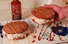 Fiery Frozen Desserts - The Sriracha Ice Cream Sandwiches Revolutionize Savory & Sweet Combinations