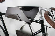 Handsome Two-Wheeler Hangers - Quarterre Furniture for Bikes Stores Your Bicycle in Style