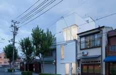 Slender Space Abodes - The Osaka House by Ido Kenji Architectural Studio Optimizes Spacial Capacity