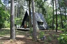 Tent-Shaped Homes - The dmvA A-Framed House is Like Camping in Comfort