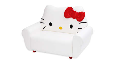 Iconic Feline Furniture - The Hello Kitty Sofa Makes for Some Comfortable Cat Loungers