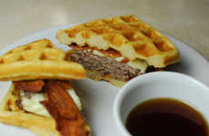 Hybrid Beef-Pastry Sandwiches - The Double Bacon Waffle Burger is a Breakfast and Dinner Combined