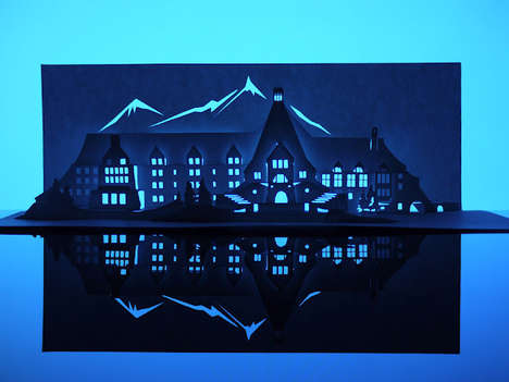 Macabre Origami House Cut-Outs