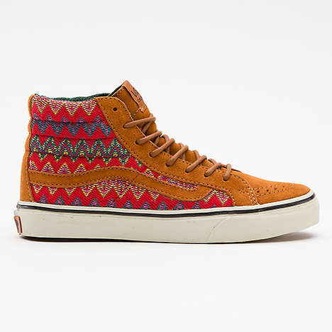 Aztec Moccasin Hybrid Shoes - The Vans Sk8-Hi Sneaker Marries Two Classic Footwear Styles