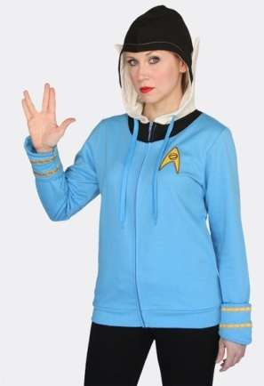 Make Dressing up For Halloween a Cinch With the Spock Hoodie