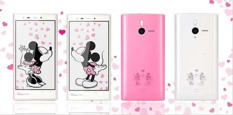 DM014SH Disney Mobile Brings Mickey and Minnie Mouse Within Your Grasp