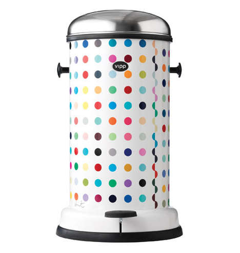 Polk-a-Dot Garbage Cans