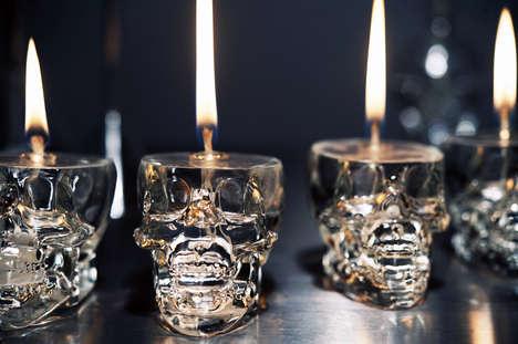 DIY Skull Lamps