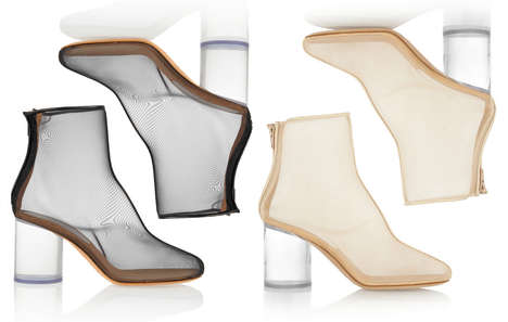Transparent Mesh Heels
