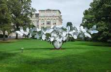 Swirling Head Sculptures - Artist Manolo Valdes Creates Outdoor Exhibit for the NY Botanical Gardens