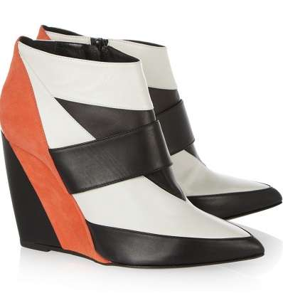 These Suede and Leather Pierre Hardy Wedge Boots are Fearlessly Gutsy
