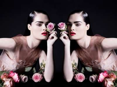 Floral Mirror Image Ads