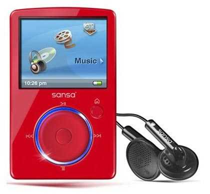 iPod Competitors - SanDisk Sansa Fuze MP3 Player