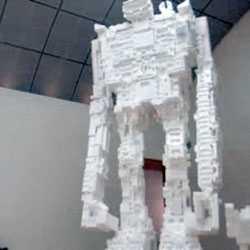 Styrafoam Robots as Art