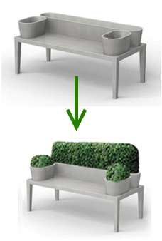Living Furniture - Bushy Bench by 5.5 Designers