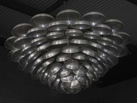 Frying Pan Chandelier