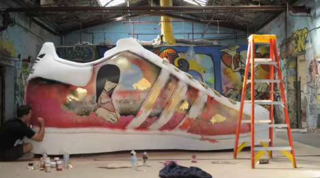 SUV-Sized Shoe Sculptures