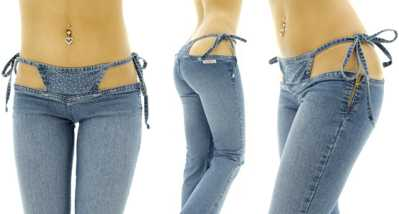 Bikini Pants - Jeans With Integrated Thongs