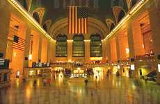 Giant Green Projections - Earth Images at Grand Central NYC