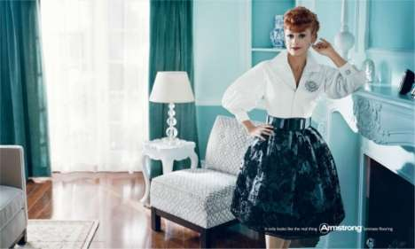 Retro Icons in New Ads - James Dean, Marlon Brando, Lucille Ball & Dean Martin for Armstrong Floors